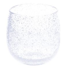 Bubble Taru Glass White (d70 x h80mm) mfr. Ryukyu Glass Craft Taru Glass: Barrel Glass