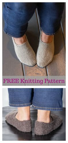 Chunky Slipper Socks FREE Knitting Pattern Slipper socks are one of our favorite quick knits. This Chunky Slipper Socks FREE Knitting Pattern is quick and cozy. Knit Slippers Free Pattern, Knitted Slippers, Slipper Socks, Crochet Slippers, Knit Crochet, Crochet Granny, Crochet Baby, Knitted Socks Free Pattern, Crochet Beanie