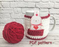 CROCHET PATTERN cozy Valentine pattern cup cozy mug warmer cup dress love pattern for crochet easy cute cup warmer with pocket DIY easy gift Mug Cozy, Coffee Cozy, Easy Gifts, Gifts For Dad, Mug Warmer, Cute Cups, Easy Crochet, I Am Awesome, Easy Diy