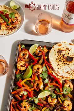 Let's count our blessings. We have our families and these homemade Shrimp Fajitas, making this Friday into a good one—in a pinch.