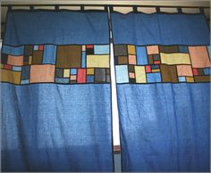 pojagi style curtains