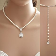 Hey, I found this really awesome Etsy listing at https://www.etsy.com/listing/226138080/bridal-backdrop-necklace-back-drop