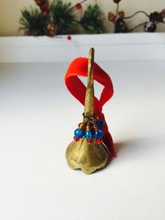 A personal favorite from my Etsy shop https://www.etsy.com/listing/254944176/small-vintage-brass-bell-christmas