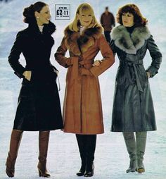 Seventies Fashion, 70s Fashion, Timeless Fashion, Love Fashion, Winter Fashion, Vintage Fashion, Fashion Black, Fashion Ideas, 70s Outfits