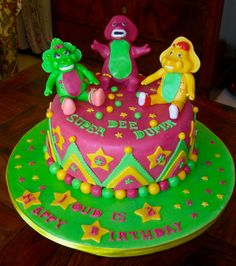 barney birthday cakes | ANOTHER BARNEY AND FRIENDS CAKE...