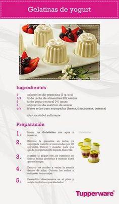 Vende Tupperware Tampico: Gelatina de Yoghurt