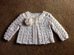 Ravelry: Project Gallery for Design E - Lace Cardigan with Long or Short Sleeves pattern by Sirdar Spinning Ltd.