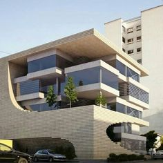 Architecture Modern Architects, Residential Architecture, Amazing Architecture, Module Architecture, Interior Architecture, Future Buildings, Small Buildings, Modern Buildings, Facade Design