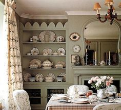 My Charming Breakfast Room Will Have A Long Wall Full Of Shelves To