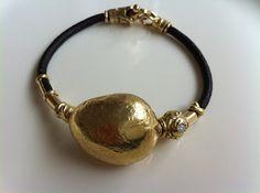 Ivo  Misani pepita and diamond bracelet