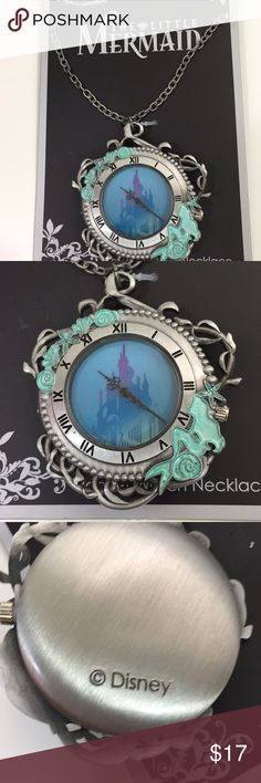 Disney the little mermaid necklace Brand new Disney the little mermaid necklace pocket watch super adorable  Disney Jewelry Necklaces