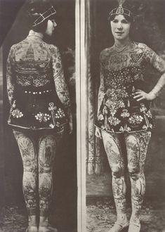 A História das Damas Tatuadas do século 19