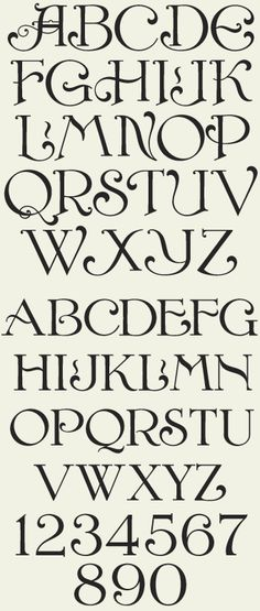 Very nice alphabet to try out your handlettering skills or to improve them: Letterhead Fonts / LHF Confection / Decorative Fonts (not free) Lettering Styles, Creative Lettering, Cool Lettering, Hand Lettering Alphabet, Typography Letters, Alphabet Fonts, Font Styles Alphabet, Alphabet Police, Victorian Fonts
