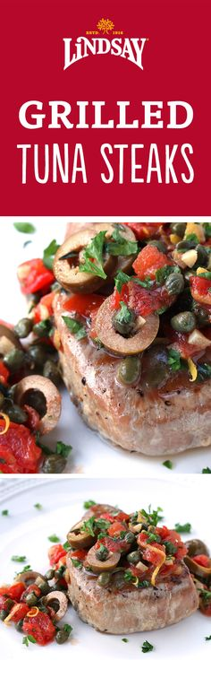 These tuna steaks over the grill are an amazing main course paired ...