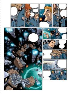 """Le reverse de la medaille"" Tome III.  Text: JD Morvan.  Art: Stefano Tamiazzo. #stefanotamiazzo #tamiazzo #delcourt #morvan #bd #manga #comics #fumetti #sceneario #steampunk"