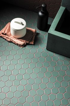 Hexagon Tiles, Hexagon Shape, Mosaic Tiles, Mandarin Stone, Outdoor Tiles, Porcelain Tile, Green, Ig Post, Master Bath