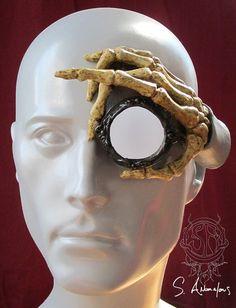 black floating hand latex monocle prosthetic by SAnomalous on Etsy, $60.00