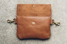 classic snap hip bag satchel in cognac // leather fanny pack Dog Treat Bag, Treat Bags, Leather Fanny Pack, Hip Bag, Dog Treats, Satchel, Trending Outfits, Unique Jewelry, Classic