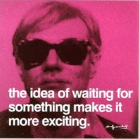 Andy Warhol Waiting print for sale. Shop for Andy Warhol Waiting painting and frame at discount price, ships in 24 hours. Cheap price prints end soon. Andy Warhol Prints, Andy Warhol Quotes, Words Quotes, Wise Words, Art Quotes, Waiting Quotes, In Vino Veritas, Thats The Way, Quote Posters