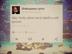 Shakespeare lyrics!