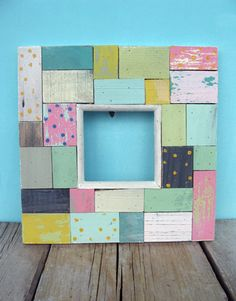 Scrap Wood Picture Frame (this would be cute to put a wedding picture in and write words on all the boards)