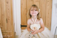 Beautiful princess in her flower girl dress made by Rainbows N Ribbons