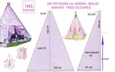 VIVE_L_ETE Baby Nest Pattern, Baby Patterns, Teepee Kids, Teepee Tent, Felt Crafts, Diy And Crafts, Diy Tipi, Techniques Couture, Ideas Para Fiestas