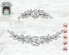 Flowers SVG file Flower Border SVG Flower cut file line Flower Embroidery Designs, Hand Embroidery Patterns, Vintage Embroidery, Embroidery Stitches, Floral Embroidery, Machine Embroidery, Embroidery Sampler, Ribbon Embroidery, Flower Svg
