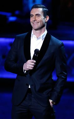 """Adam Levine from The Big Picture: Today's Hot Pics  The Maroon 5 singer performs during """"Sinatra 100: An All-Star GRAMMY Concert"""" celebrating the late Frank Sinatra's 100th birthday at the Encore Theater at Wynn Las Vegas."""