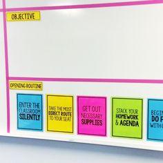 Classroom Routines, Classroom Procedures, Classroom Organisation, Classroom Behavior, Teacher Organization, Classroom Management, Classroom Expectations, School Routines, White Board Organization