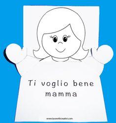 BIGLIETTO D'AUGURI POP UP Biglietto pop up con bambina che apre le braccia da regalare alla vostra mamma per il giorno della sua festa. Biglietto con bambi
