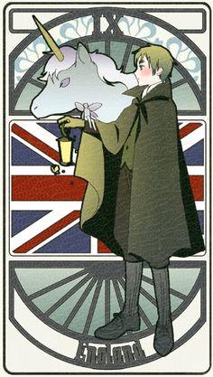 England | Hetalia Tarot Card