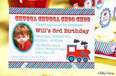 Vintage Train Photo Birthday Party by KellysCottageShoppe on Etsy, $11.00