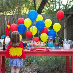 Superhero Themed Birthday Party