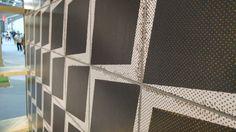 Una superficie super grafica che ricorda l'opacità della lavagna e qualcosa di pop grazie alle spruzzate dorate.  Da Unica by Target Studio, pad. 15.  #MCaroundCersaie