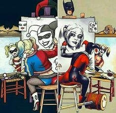 Drawing, Harley Quinn and DC Comics Picture - Punk Disney - . Der Joker, Harley Quinn Comic, Joker And Harley Quinn, Punk Disney, Dc Comics, Hearly Quinn, Harley Quinn Drawing, Gotham Girls, Character Drawing