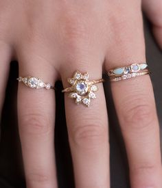 Triple Diamond Ring - Audry Rose