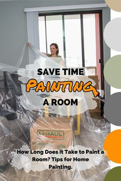 Paint your walls with confidence knowing your furniture and floors are protected with these tips. As a bonus it will also save you time! Moving Storage Containers, Moving And Storage, Time Painting, House Painting, Moving Supplies, Self Storage, Room Paint, Decorating Your Home, Save Yourself