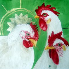 Three Candy Canes by Kirsten Beitler. Prints available at http://fineartamerica.com/art/all/Kirsten+Beitler/all #chickenart