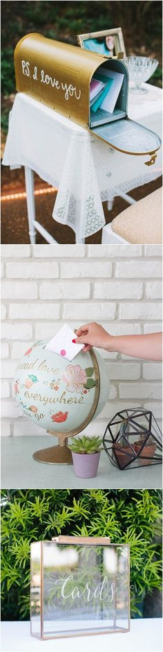 To add an extra detail into your decor you can turn the rather drab card box into something fabulous.