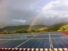Due arcobaleni oggi sopra il tetto del nostro frantoio!