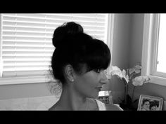 How to make a sock bun!! Easy sock bun tutorial and check out the great curls that come with it... - YouTube