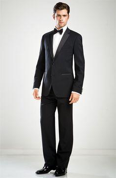 BOSS Black 'The Stars Glamour' Trim Fit Super 100s Wool Tuxedo