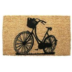 Entryways Bike 18 in. x 30 in. Hand Woven Coconut Fiber Door Mat-1030S at The Home Depot  $40
