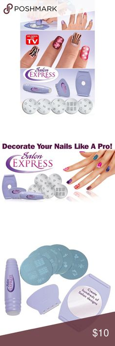 Salon Express Nail Kit This nail kit is for anyone who loves beautiful professional nail designs but hates going to a professional. Nail designs in seconds! Salon Express Other