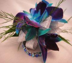 Marine blue and purple