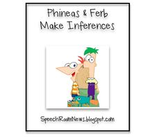 Phineas & Ferb have been busy in my speech room. As far as speech and language therapy materials go, they're pretty cute! This free speech and language resource helps students decide which inference makes sense! Download these guys for free HERE!!! If you visit leave me a comment. And by all means… become a follower!!!! 🙂 [...]