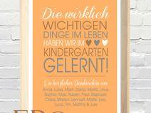 ★ Kindergarten ★ Print 21x30,5 cm ★ Abschied