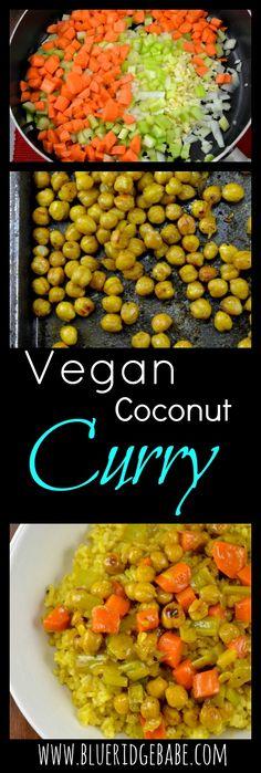 Vegan thai coconut curry bowl recipe