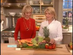 Martha Stewart and Dr. Jana Klauer presents bad fruits and vegetables that retain pesticides and good food fruits and vegetables without pesticides.